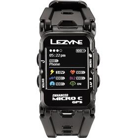 Lezyne Micro C Multisportuhr mit Herzfrequenzmessgerät schwarz